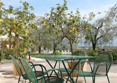 Giardino esterno con limoni del Garda / Outside garden with Garda lemons / Außengarten mit Gardasee-Zitronen